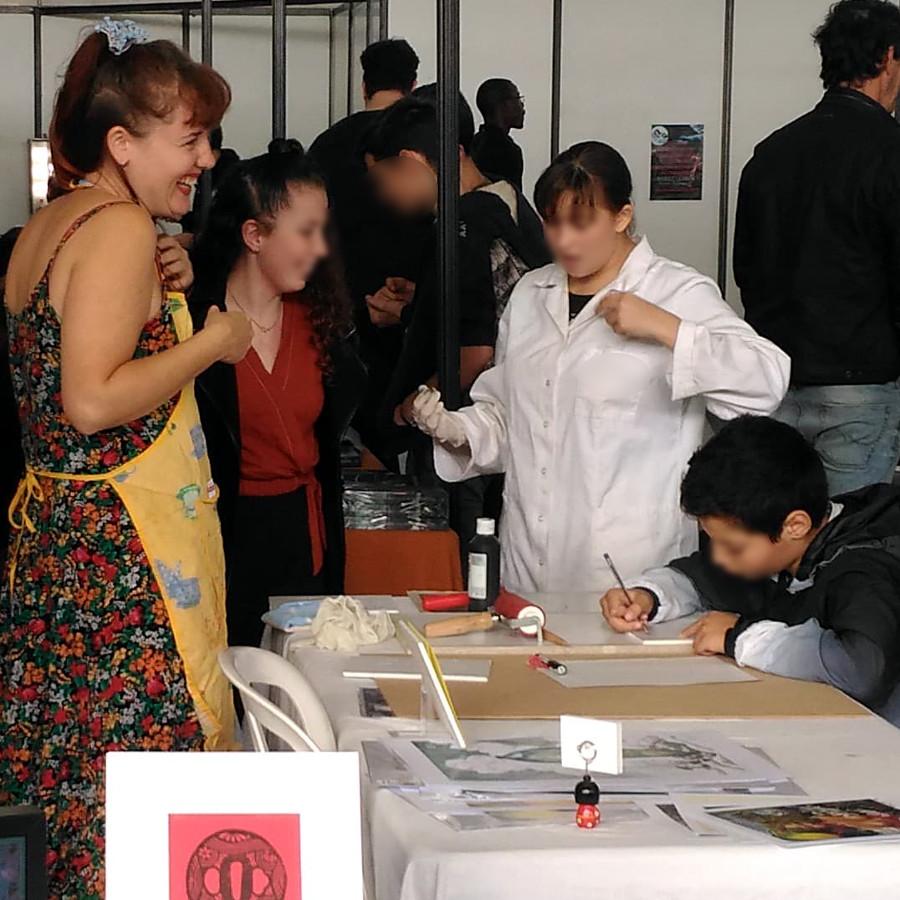 Atelier découverte de Gravure sur polystyrène - Festival Japan Matsuri